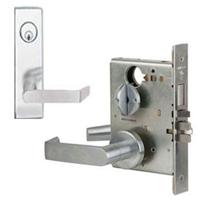 Schlage L9453L 06N Wide Plate Trim Lever Mortise Lock Less Cylinder