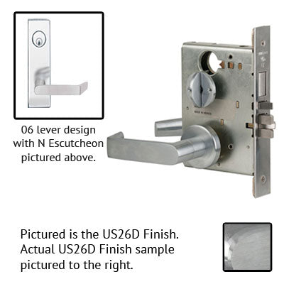 Schlage L9453L 06N Wide Plate Trim Lever Mortise Lock Less Cylinder US Trim