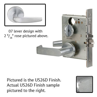 Schlage L9453L 07B Lever Mortise Lock Less Cylinder US Finishes