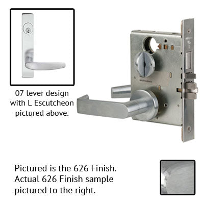 Schlage L9453J 07L Plate Trim Lever Mortise Lock Accepts Schlage LFIC Less Core
