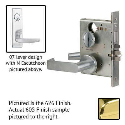 Schlage L9453J 07N Wide Plate Trim Lever Mortise Lock Accepts Schlage LFIC Less Core