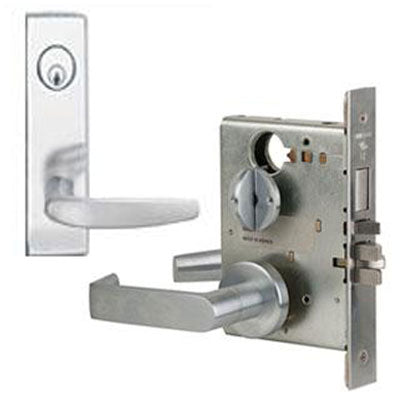 Schlage L9453L 07N Wide Plate Trim Lever Mortise Lock Less Cylinder