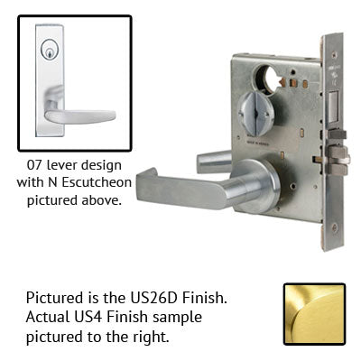 Schlage L9453J 07N Wide Plate Trim Lever Mortise Lock Accepts Schlage LFIC Less Core US Finishes