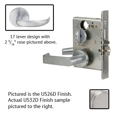 Schlage L9453L 17B Lever Mortise Lock Less Cylinder US Finishes