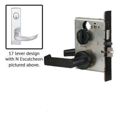 Schlage L9453P 17N Wide Plate Trim Lever Mortise Lock With Cylinder