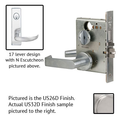 Schlage L9453P 17N Wide Plate Trim Lever Mortise Lock With Cylinder US Finishes