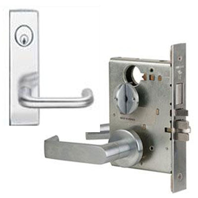 Schlage L9453P 03N Wide Plate Trim Lever Mortise Lock With Cylinder