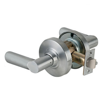 Schlage ND10S BRW 626 Brushed Chrome Finish - Heavy Duty Passage Lever Lock with Cylinder