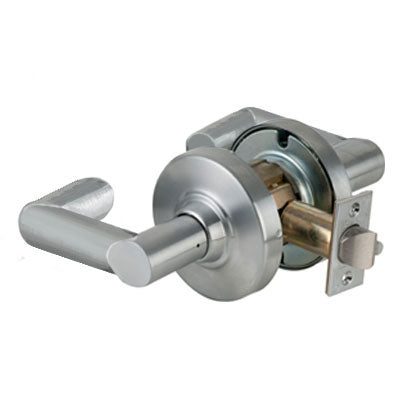 Schlage ND10S BWK 626 Brushed Chrome Finish - Heavy Duty Passage Lever Lock with Cylinder
