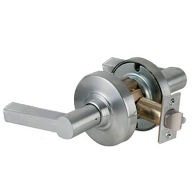 Schlage ND10S LAT 626 Brushed Chrome Finish - Heavy Duty Passage Lever Lock with Cylinder