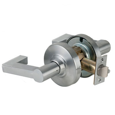 Schlage ND10S LON 626 Brushed Chrome Finish - Heavy Duty Passage Lever Lock with Cylinder