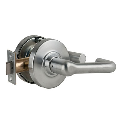 Schlage ND10S TLR 626 Brushed Chrome Finish - Heavy Duty Passage Lever Lock with Cylinder