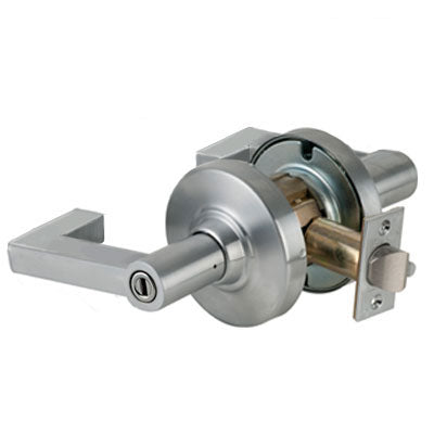Schlage ND40S LON 626 Brushed Chrome Finish - Heavy Duty Privacy Lever Lock with Cylinder