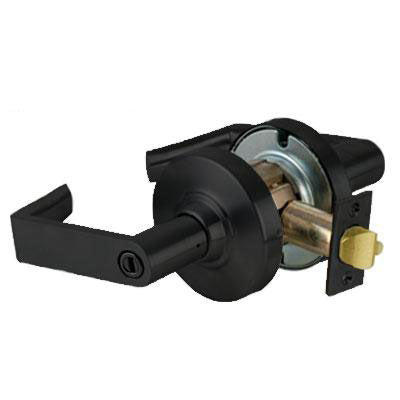 Schlage ND40S RHO 622 Black Finish - Heavy Duty Privacy Lever Lock with Cylinder