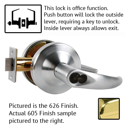 Schlage ND53JD OME 626 Omega Design Lever Lock