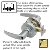 Schlage ND Series Athens Lever Lock Less Cylinder