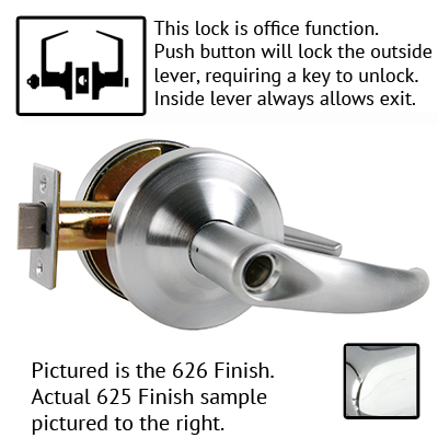 Schlage ND Series Omega Lever Lock Less Cylinder US Finishes