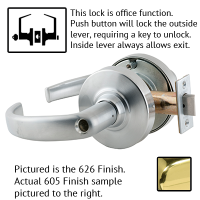 Schlage ND53LD SPA 626 Sparta Design Lever Lock