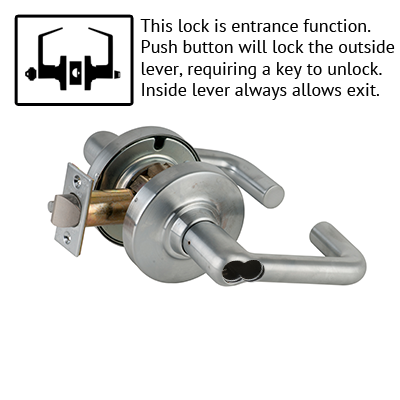Schlage ND53BD TLR 626 Tubular Design Lever Lock