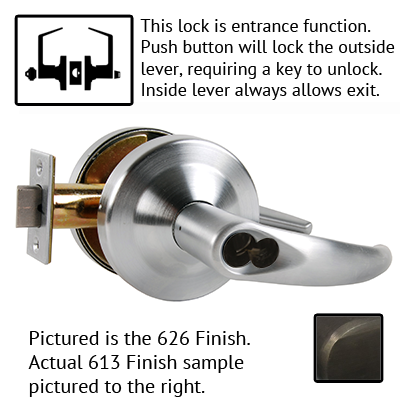 Schlage ND Series Omega Lever Lock Accepts LFIC Less Core US Finishes