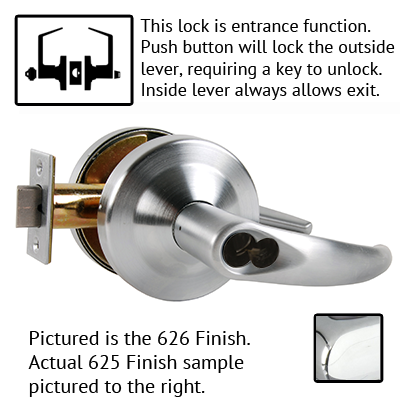Schlage ND Series Omega Lever Lock Accepts LFIC Less Core