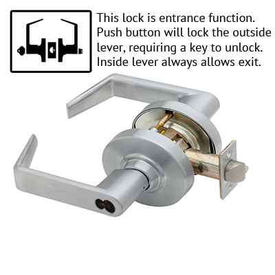 Schlage ND53JD RHO 626 Rhodes Design Lever Lock