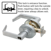 Schlage ND Series Rhodes Lever Lock Accepts LFIC Less Core