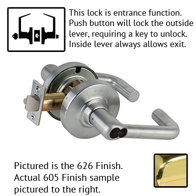 Schlage ND Series Tubular Lever Lock Accepts LFIC Less Core