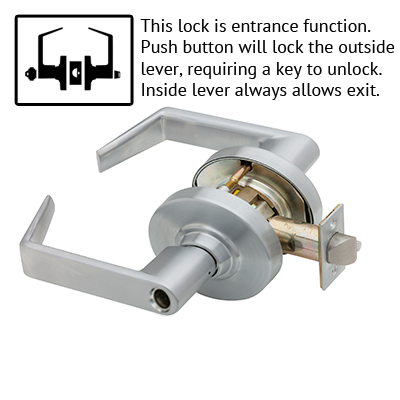 Schlage ND53LD RHO 626 Rhodes Design Lever Lock