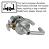 Schlage ND Series Tubular Lever Lock Less Cylinder