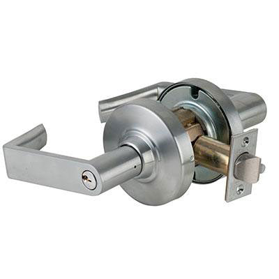 Schlage ND53PD RHO 626AM Antimicrobial Entrance Function ND Series Rhodes Lever Grade 1 Lock With Cylinder Brushed Chrome Finish
