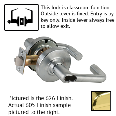 Schlage ND Series Tubular Lever Lock Accepts Best SFIC Less Core