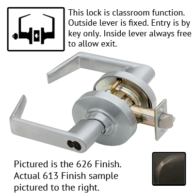 Schlage ND Series Rhodes Lever Lock Accepts LFIC Less Core US Finishes