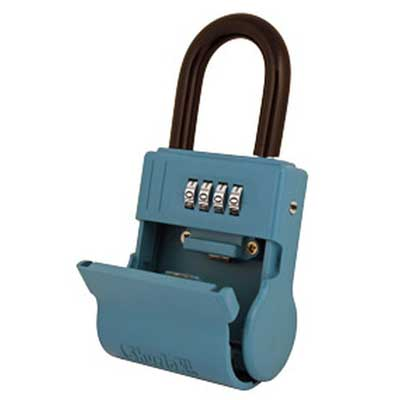 Padlocks 4 Less ShurLok II SL600 Front Loading Numeric Code Blue LockBox