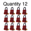 ShurLok SL300 Numeric Code Brick Red Lock Boxes Quantity of 12