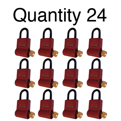ShurLok SL300 Numeric Code Brick Red Lock Boxes Quantity of 24