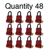 ShurLok SL300 Numeric Code Brick Red Lock Boxes Quantity of 48