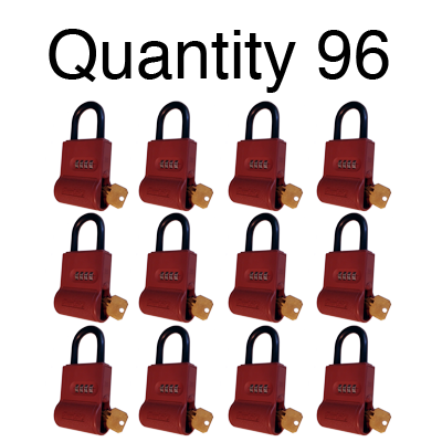 ShurLok SL300 Numeric Code Brick Red Lock Boxes Quantity of 96