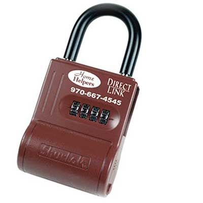 Padlocks 4 Less ShurLok SL300P Imprinted Numeric Code Brick Red LockBox