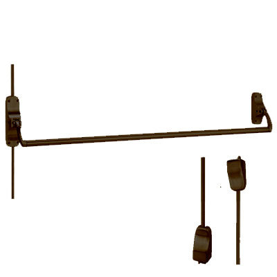 Von Duprin 8827EO US10B Oil Rubbed Bronze Finish Vertical Rod Panic Bar Exit Only
