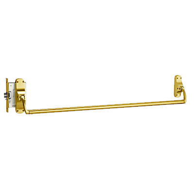Von Duprin 8875EO US3 Polished Brass Finish Mortise Lock Panic Bar Exit Only