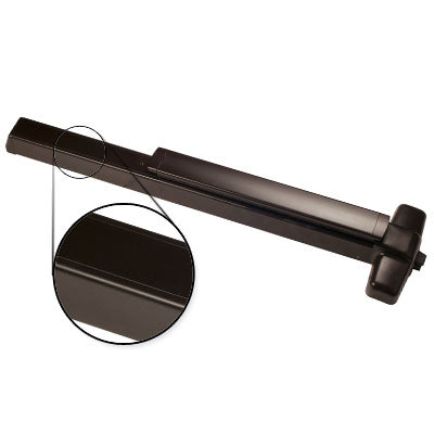 Von Duprin QEL98EO F 4 US10B Oil Rubbed Bronze Finish Four Foot Fire Rated Quiet Electric Latch Retraction Panic Bar Exit Only