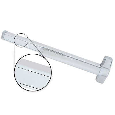 Von Duprin QEL98EO 4 US26 Polished Chrome Finish Four Foot Quiet Electric Latch Retraction Panic Bar Exit Only