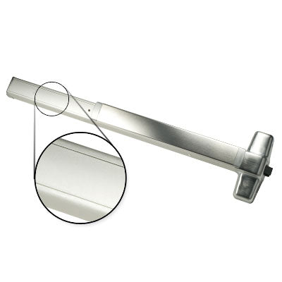 Von Duprin QEL98EO 4 US26D Brushed Chrome Finish Four Foot Quiet Electric Latch Retraction Panic Bar Exit Only
