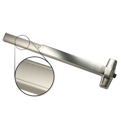 Von Duprin QEL98EO 3 US32D Stainless Steel Finish Three Foot Quiet Electric Latch Retraction Panic Bar Exit Only