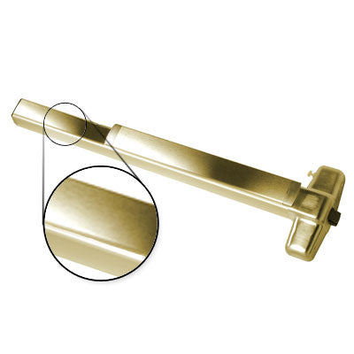 Von Duprin QEL98EO F 3 US3 Polished Brass Finish Three Foot Fire Rated Quiet Electric Latch Retraction Panic Bar Exit Only