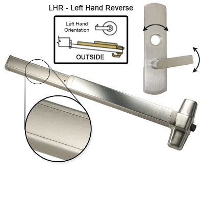 Von Duprin QEL98L Quiet Electrified Latch Retraction Panic Bar With Lever Trim