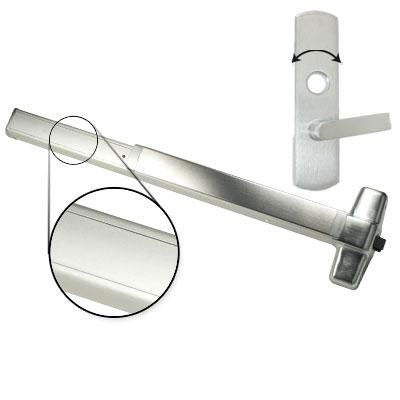 Von Duprin QEL98L NL Quiet Electrified Latch Retraction Panic Bar With Lever Trim Rigid Night Latch