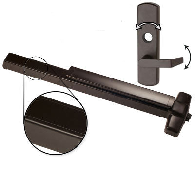 Von Duprin QEL98L 3 US10B Oil Rubbed Bronze Finish Three Foot Quiet Electric Latch Retraction Panic Bar With Lever Trim