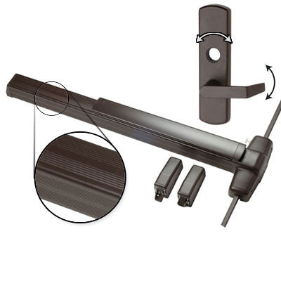 Von Duprin QEL9927L 3 US10B Oil Rubbed Bronze Finish Three Foot Quiet Electric Latch Retraction Vertical Rod Panic Bar With Lever Trim